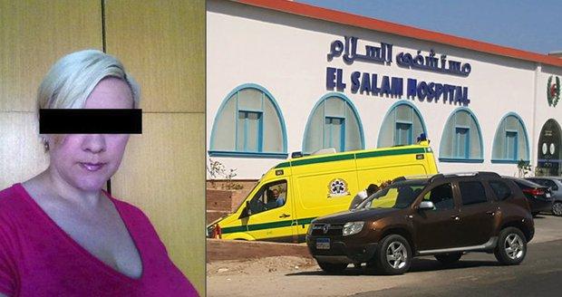 Účetní Lenka pobodaná v Hurghadě zůstává v Egyptě. Má zraněná záda a nohu