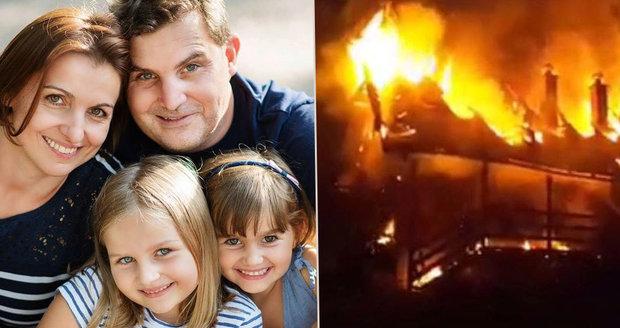 Růžena s dvěma dcerami zemřela při požáru chaty: Zraněním podlehl i otec rodiny