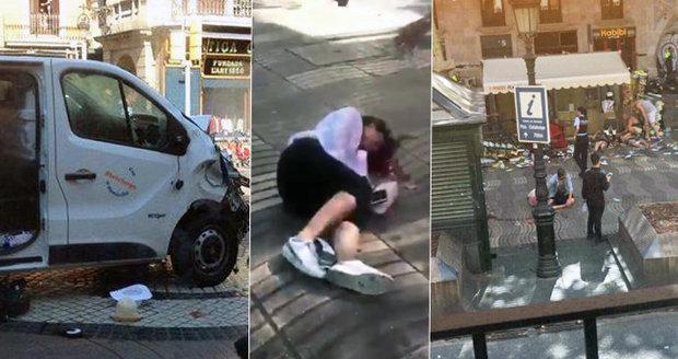 Teror v Barceloně ONLINE: Dodávka najela do lidí, nejméně 13 mrtvých a 50 zraněných
