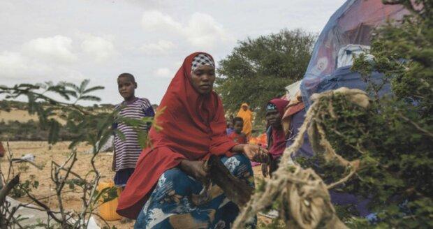 Uprchlický tábor v Mogadišu
