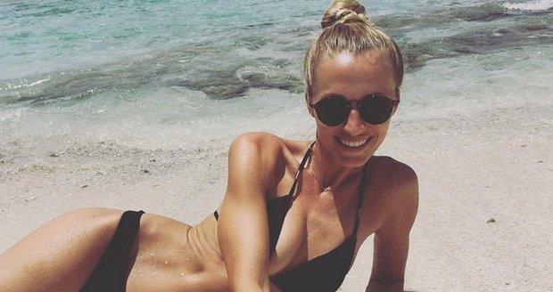 Veronika Kašáková na dovolené na Maledivách