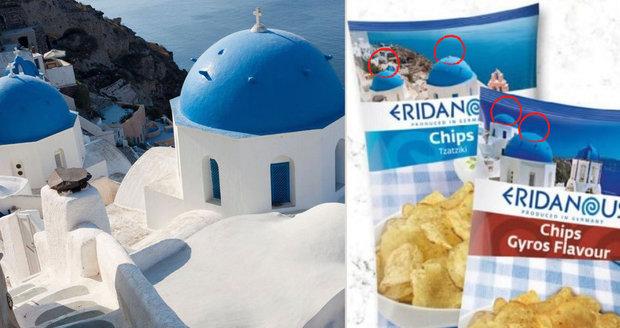 Lidl umazal v reklamě řeckým kostelům kříže. Prý kvůli náboženské neutralitě