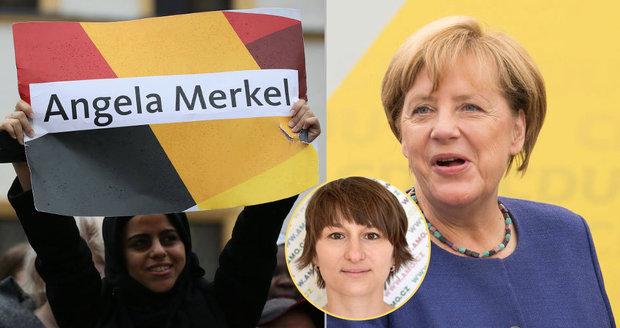 Merkelová kráčí k triumfu. Česká expertka: Z uprchlické kritiky se otřepala