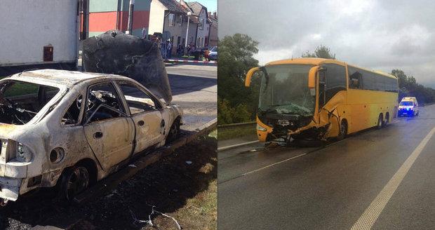 Martin (†24) se Zuzkou (†27) a dvěma dětmi (†3,†5) uhořeli: V autě se srazili s autobusem