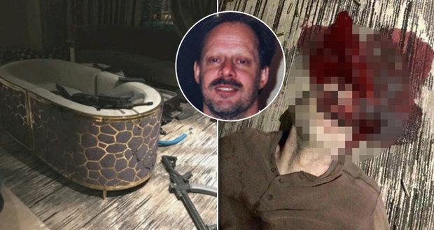 """Tajné fotky z """"pokoje smrti"""": Takhle si vrah z Las Vegas prostřelil hlavu"""