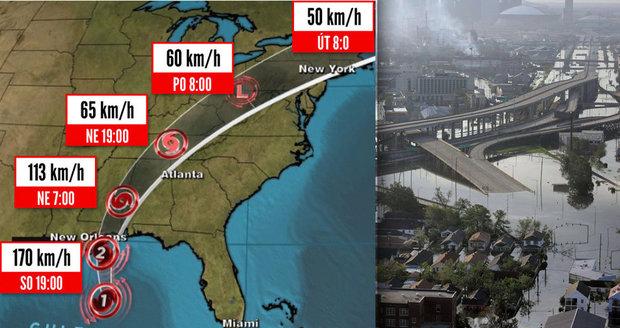 Hurikán Nate už zabil 28 lidí. Míří na New Orleans, které zpustošila Katrina