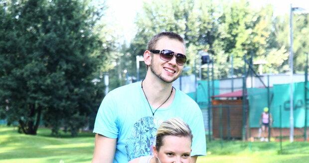 Markéta Poulíčková s přítelem.