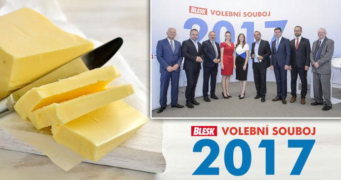 Pohne s brutálními cenami másla nižší DPH? Politici se přeli ve volebním studiu Blesku