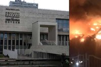 Moskevsk� chlouba v plamenech: Po��r zachv�til velkou knihovnu!