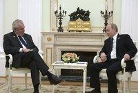 Zeman se v ��n� setk� s Putinem, ozn�mil Kreml