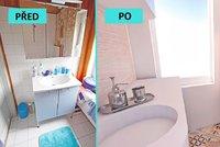 Prom�na koupelny: Mal� prostor d�ky rekonstrukci prokoukl a stal se funk�n�m