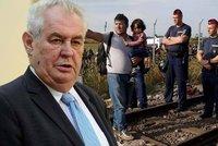 Zeman: Kvůli uprchlíkům je nejvyšší čas povolat armádu na české hranice