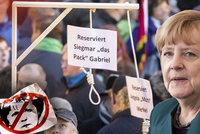 """""""Rezervováno pro Merkelovou."""" Šibenice za uprchlíky pobouřila politiky"""