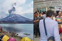 Sopka uvěznila Čechy na Bali: Nevíme, co bude dál, naříkají