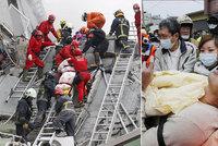 Nejméně 14 mrtvých při silném zemětřesení v Tchaj-wanu. Kolem stovky lidí se pohřešuje
