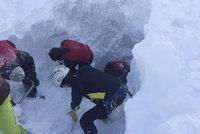 Lavina na Slovensku zasypala tři lidi. Čeští turisté přivolali okamžitě pomoc