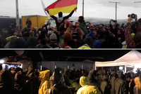"""Rozvášnění uprchlíci volali """"Mama Merkel"""". """"Zchladil"""" je prudký liják"""
