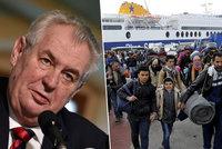 Miliardy Turkům jsou vyhozené peníze, míní Zeman. Odmítl i výměnu uprchlíků