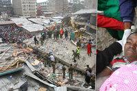 Dav tleskal, kdy� ze sutin vyt�hli d�t�. Z��cen� budovy v Nairobi ale nep�e�ilo 12 lid�