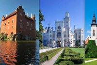 Nejkr�sn�j�� hrady a z�mky �eska: Vyso�ina a Jiho�esk� kraj