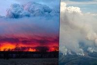 Stav ohro�en� a 88 tis�c evakuovan�ch: Kanadskou Albertu pohlcuj� plameny