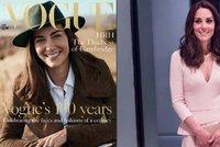 V�vodkyn� Kate jako modelka: Obsadila ob�lku presti�n�ho magaz�nu