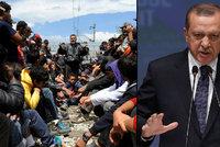 Erdogan p�ikl�d� EU �n� na krk�: Zru�te v�za, nebo uprchl�ky nep�ijmeme