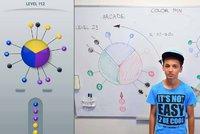 Martin (12) z azylov�ho domu bez wi-fi vymyslel mobiln� hru Color Pin