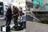 Policie uzav�ela kv�li kufru stanici metra M�stek. M�e v n�m b�t bomba