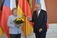 Ostr� debata Zemana a Merkelov� o uprchl�c�ch: My je nezvali, �ekl prezident