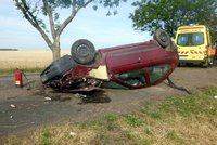 Dramatická srážka dvou aut u Dobřan: Zraněno šest lidí, z toho tři malé děti!