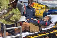 Show se zm�nila v boj o �ivot. �ty�metrov� krokod�l �el zab�jet p�ed turisty