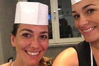 Modelka Alena �eredov� v kuchyni: Nem�u j�st skoro nic!