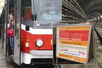 Prodlou�en� v�kend zkomplikuje dopravu: Tramvajovou tra� mezi Ohradou a Palmovkou a linku metra C �ek� oprava
