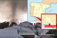 Obří tornádo štípalo domy: Ve Španělsku sčítají škody