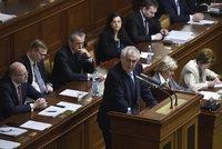 ONLINE: Zeman chválil rozpočet a chce pro Babiše Nobelovku. Ministr je na prášcích