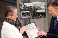 Prezident Kolumbie dostal Nobelovu cenu míru. Za ukončení občanské války