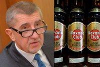 Zaplaví Česko kubánský rum? Babiš: Dražili bychom jej za nejvyšší cenu