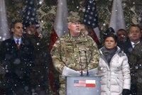 Poláci radostně vítali armádu USA. Ministr: Čekali jsme na vás po desetiletí