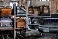 Opuštěný pohřební ústav nahání hrůzu: Zůstaly tu rakve i zpopelněné ostatky!