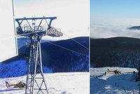 Mozková mrtvice na vrcholu Sněžky: Seniorce zachránil život vrtulník