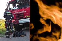 Tragická nehoda na Příbramsku: Řidič po nárazu uhořel