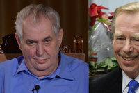 """Chci moc, jako měl Havel, říká Zeman. Zmínil i """"šarlatána"""" Ratha a radu od Ivany"""