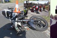 Drastické video jako varování: Hasiči uveřejnili záznam z pokusu o záchranu motorkáře