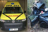 Dávej na nás z nebe pozor! Při nehodě na Blanensku zemřel i lékař, kolegové mu vzdávají čest