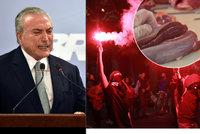 Skandál se zkaženým masem vede až k prezidentovi. V Brazílii chtějí jeho hlavu