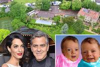 Dvojčátka George Clooneyho: Tady budou vyrůstat! Bazén, kino, kurt i přístaviště