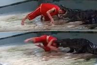 Krokodýl se zakousl muži do hlavy! Děsivý útok natočil svědek na video