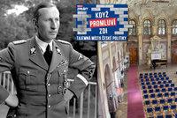 Heydrich se tu bavil krátce před atentátem. Pak sál zaplnili senátoři