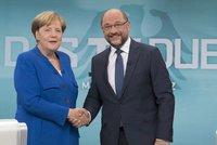 Strana Merkelové má vítězství na dosah. Konkurenční SPD ztrácí, Schulz nezabodoval
